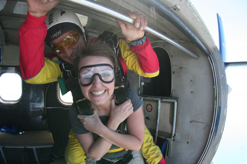 me jumping out of a plane