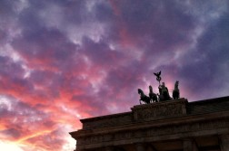 Sunset at Brandenburg Gate in Berlin