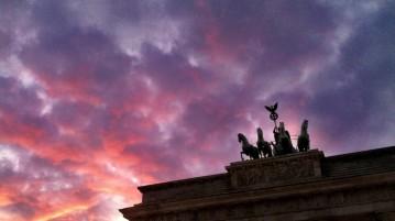 Sunset at Brandenburg Gate in Berlin