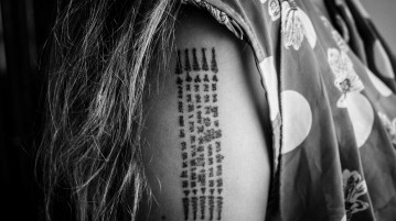 sak yant thai tattoo