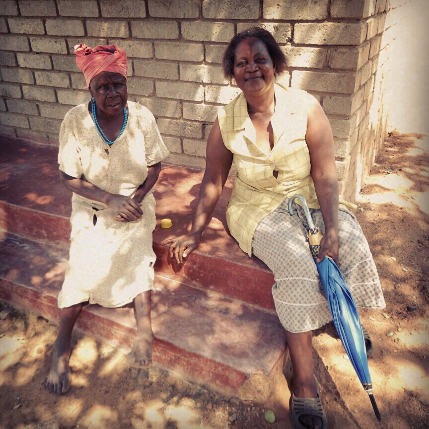 two south african women having a break