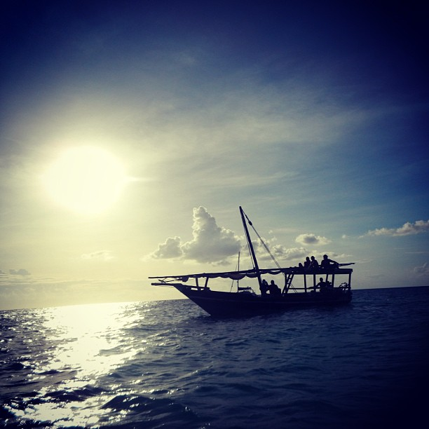 dhow sunset kendwa