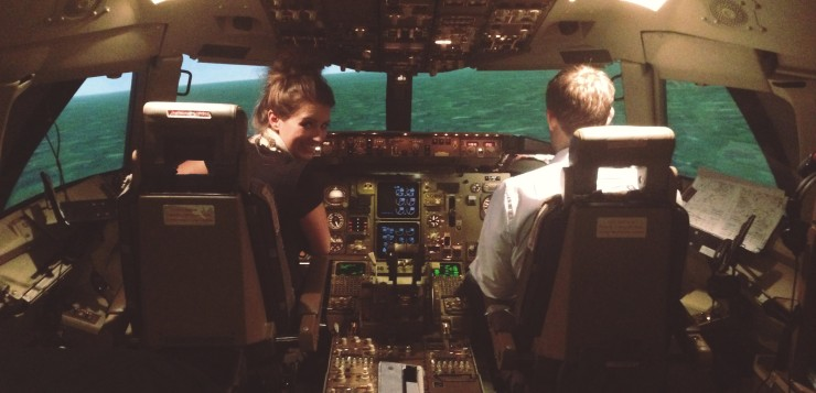me flying a plane - flight simulator