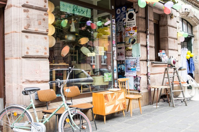 flex was one of the very first cool shops in nuremberg it opened five years ago and here you can find especially furniture lamps and accessories from the