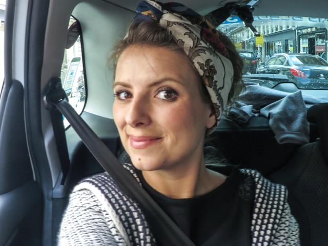 ich im taxi in paris