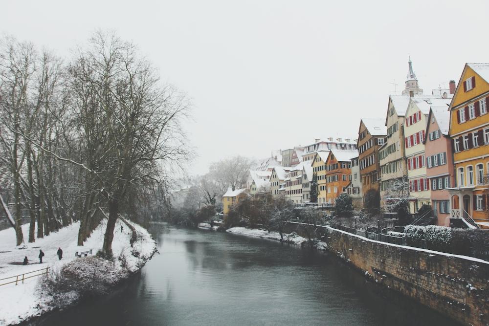 tuebingen neckarfront winter