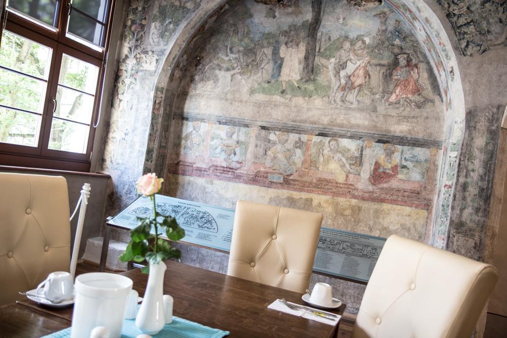 Goerlitz Wandmalereien Cranach Hotel Schwibbogen