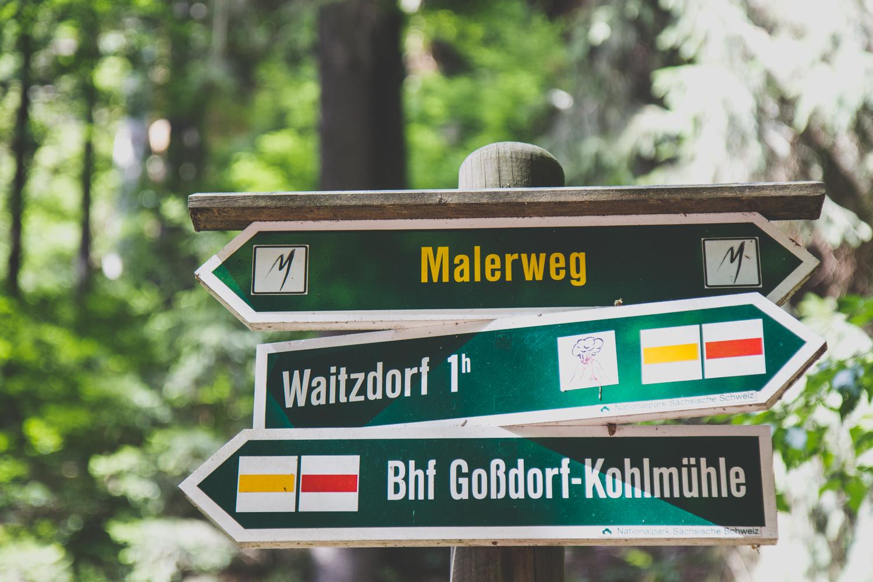 Sächsische Schweiz Malerweg wandern