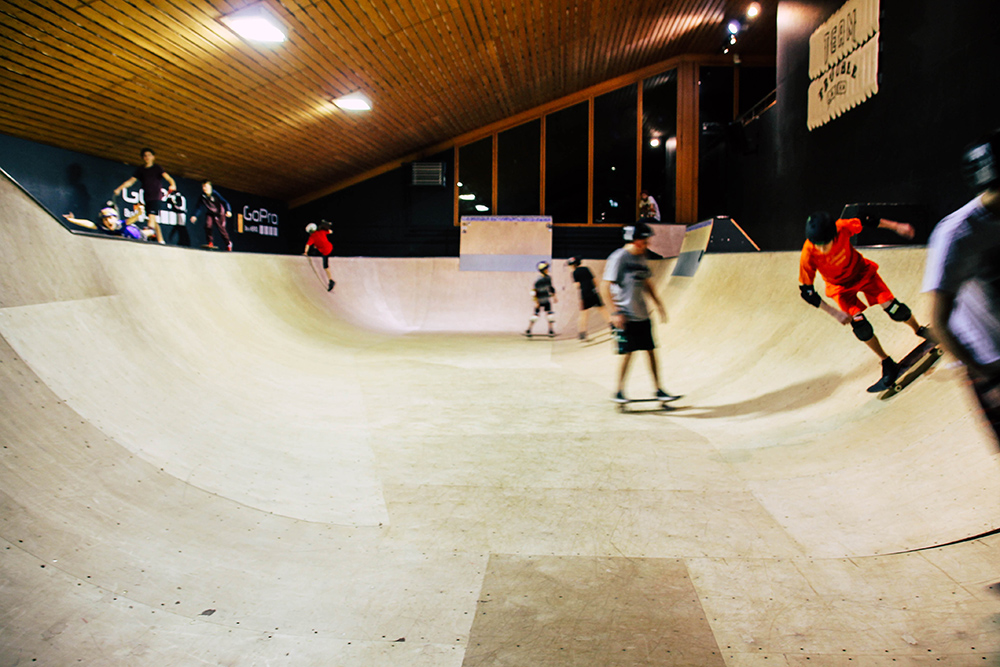 Skating Rampe in der Freestyle Academy