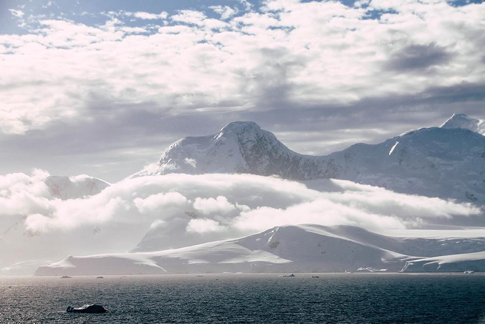 Blick auf die Antarktis