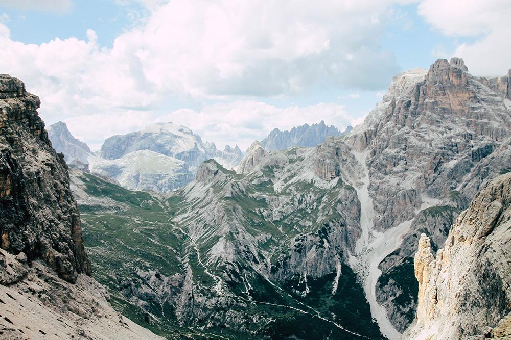 Bergwelt bei den Drei Zinnen