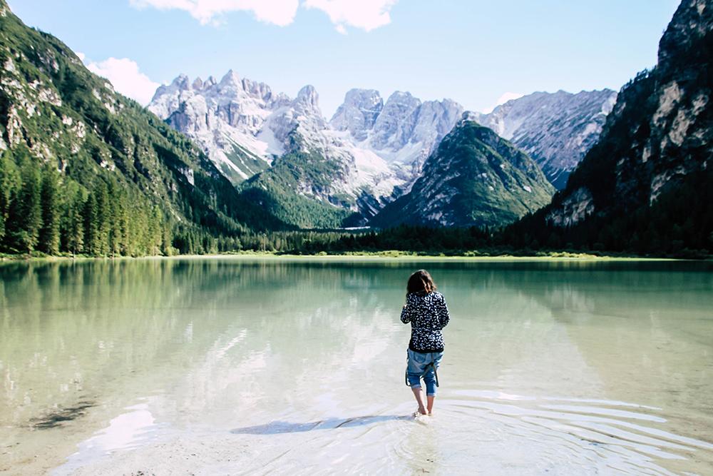 Der Duerrensee in den Dolomiten